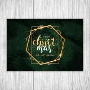 Set foi de masa Christmas Golden Frame